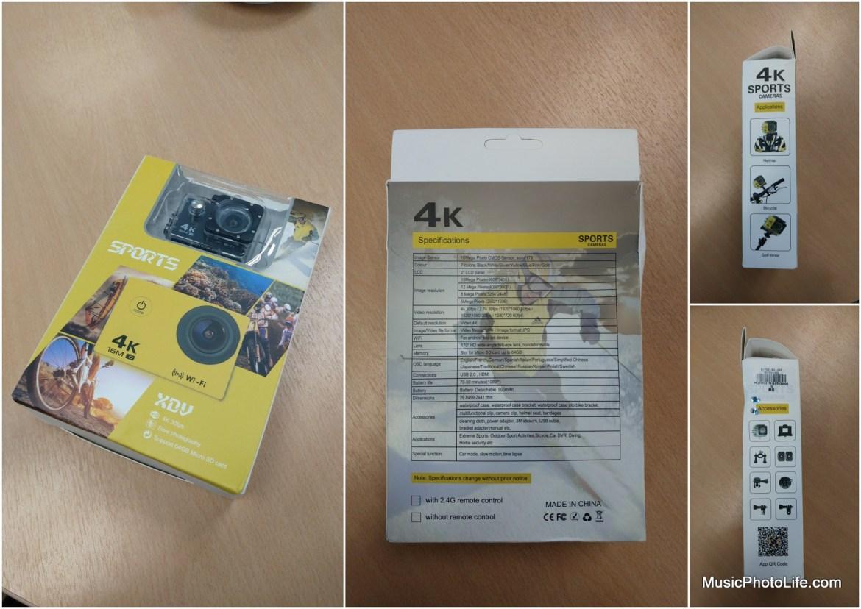 XDC V3 Sports Camera packaging