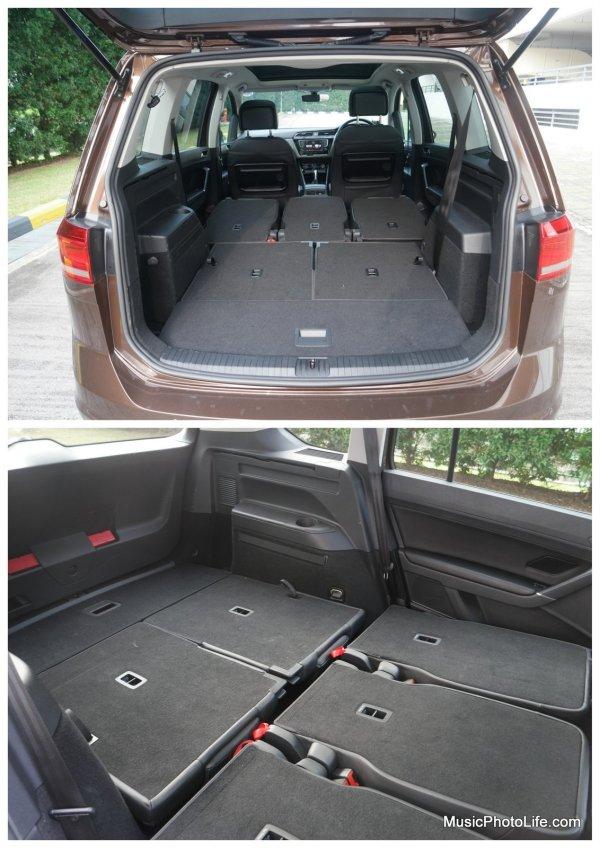 Volkswagen Touran fully folded