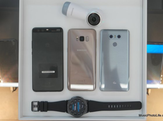 Samsung Galaxy S8, Huawei P10+, LG G6