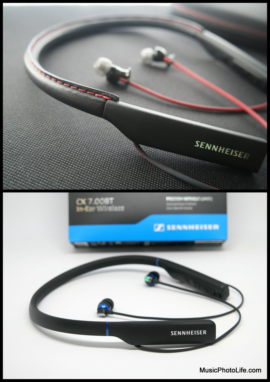 Sennheiser In-Ear Wireless M2 IEBT and CX 7.00BT review by musicphotolife.com