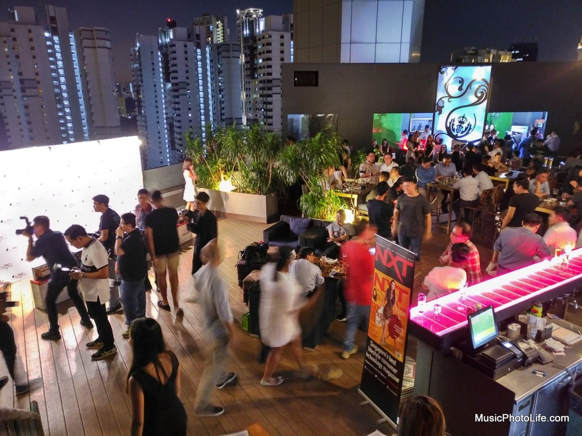 BlackBerry KEYone night shot HDR at Fabrika NXT Angels Finals event