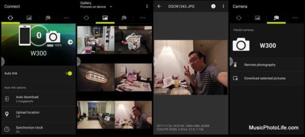Nikon COOLPIX W300 Snapbridge app