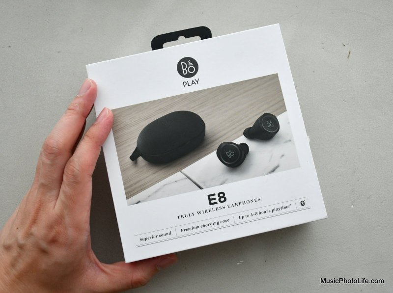 Beoplay E8 review retail box