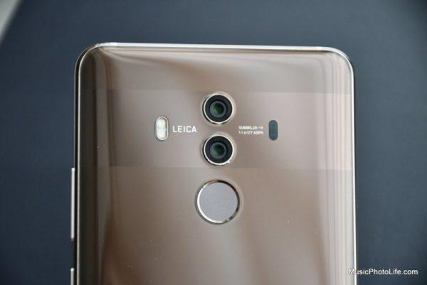Huawei Mate 10 Pro rear camera close up
