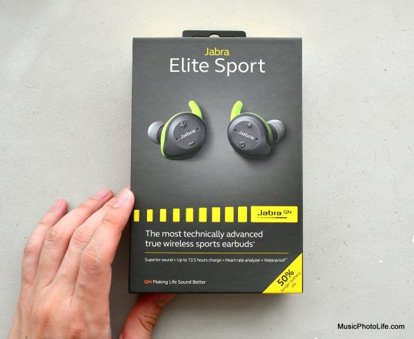 Jabra Elite Sport review box