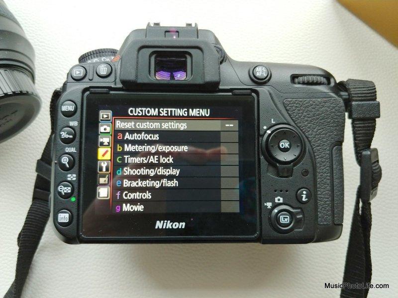 Nikon D7500 rear view