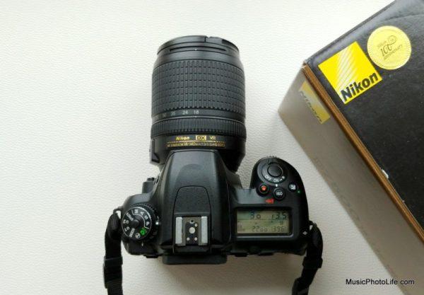 Nikon D7500 top view