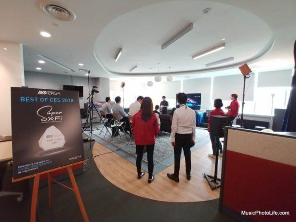Creative Super X-Fi demo event at Singapore 28 Feb 2018 Creative Office