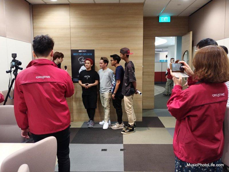 JianHao Tan at the Creative Super X-Fi demo event
