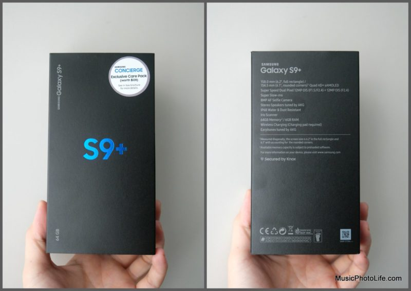 Samsung Galaxy S9+ Singapore retail box