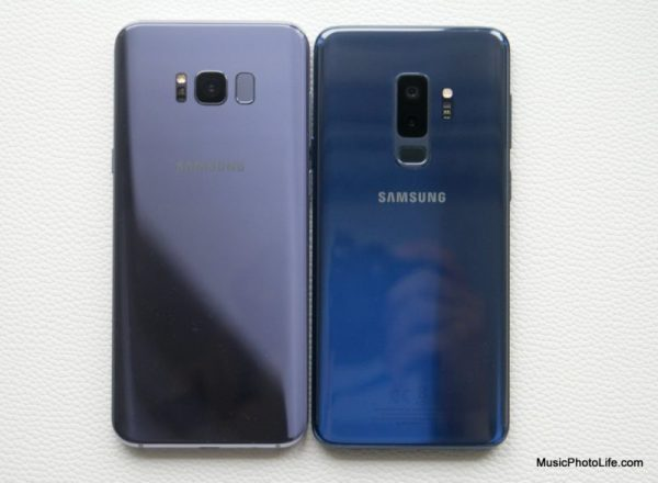 Samsung Galaxy S9+ compares with Galaxy S8+
