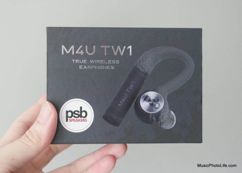 PSB Speakers M4U TW1 true wireless earphones review by musicphotolife.com - retail box
