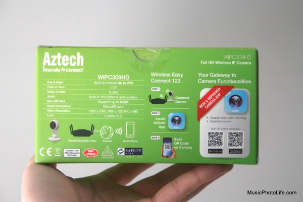 Aztech WIPC309HD IP Webcam retail box