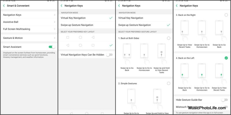 OPPO R15 navigation keys setting