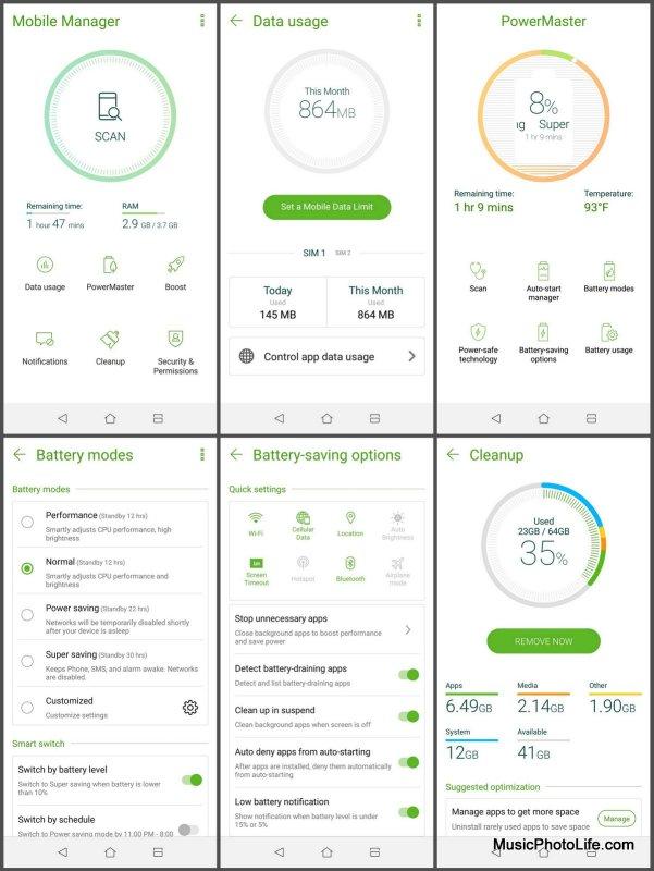 ASUS Zenfone 5Q Mobile Manager screenshot