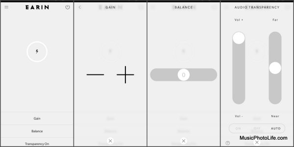 Earin M-2 smartphone app