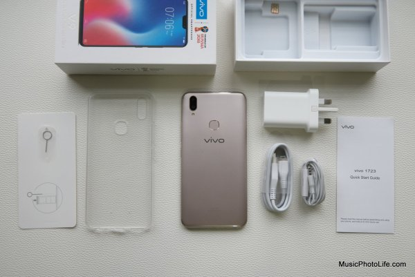 Vivo V9 Smartphone unboxing review by musicphotolife.com
