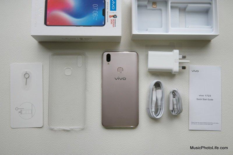 Vivo V9 Smartphone unboxing review by musicphotolife.com