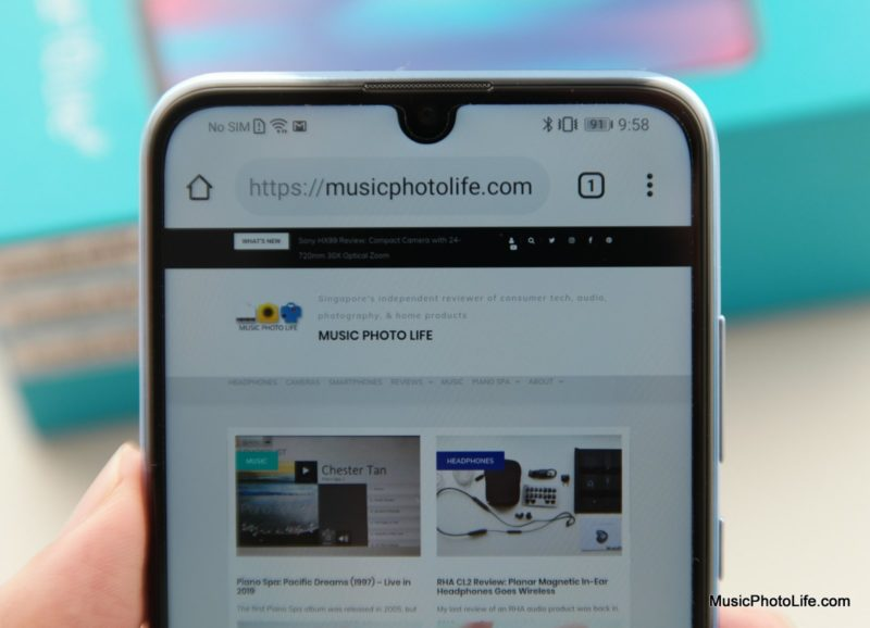 Honor 10 Lite review by musicphotolife.com, Singapore smartphone blogger