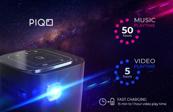 PIQO Battery life specs: 5 hours video, 50 hours audio