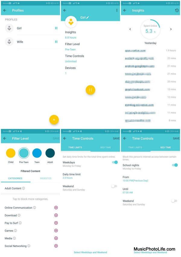 TP-Link Deco app - parental controls