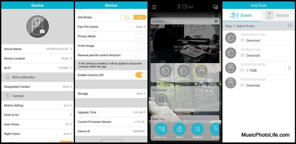 D-Link DCS-8515LH dlink app