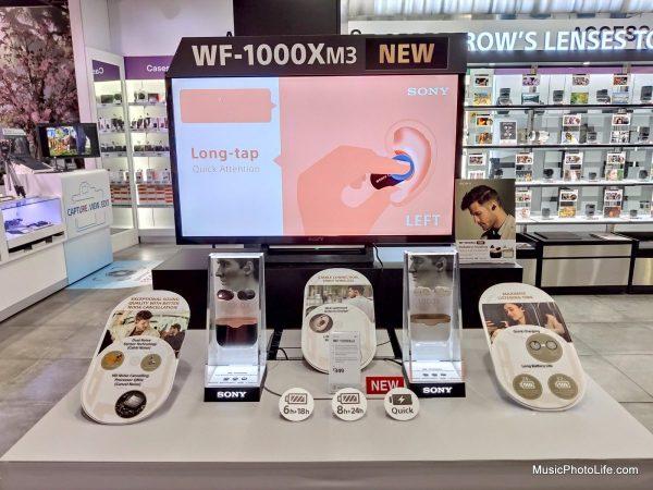 Sony WF-1000XM3 display