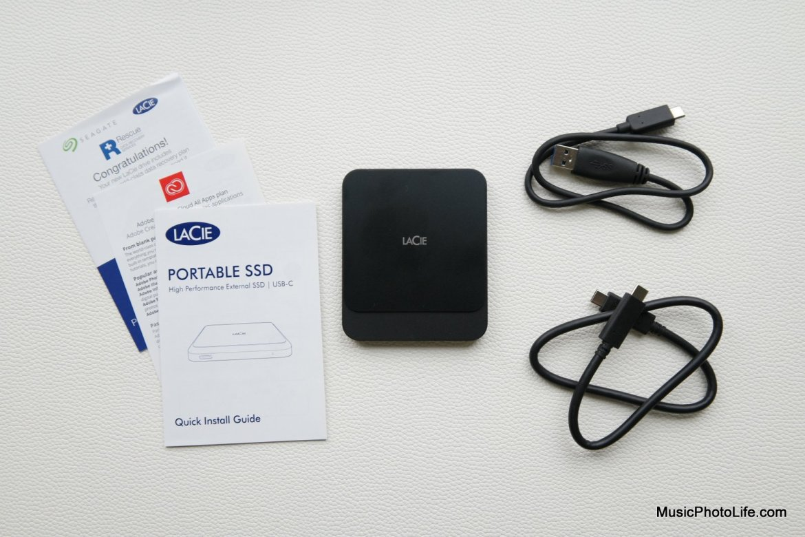 LaCie Portable SSD unboxing