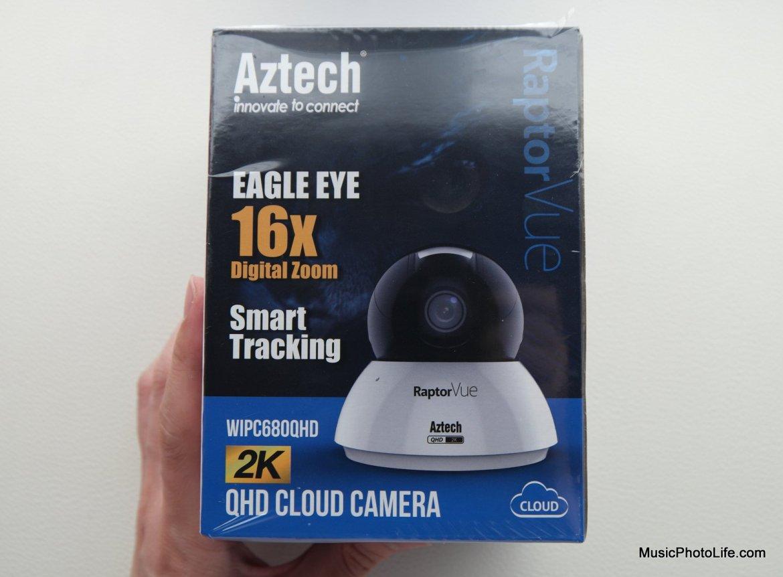 Aztech RaptorVue WIPC680QHD cloud camera retail box