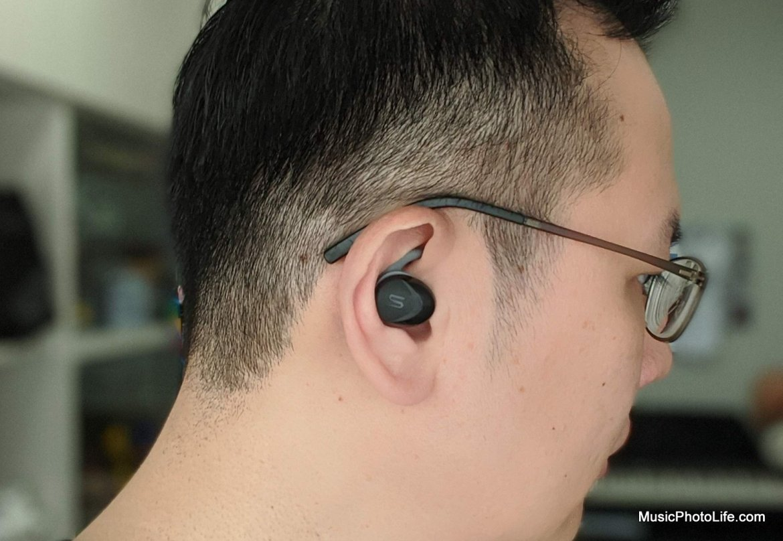 SOUL ST-XS2 True Wireless Sports Earbuds on ears by musicphotolife.com Singapore tech blog