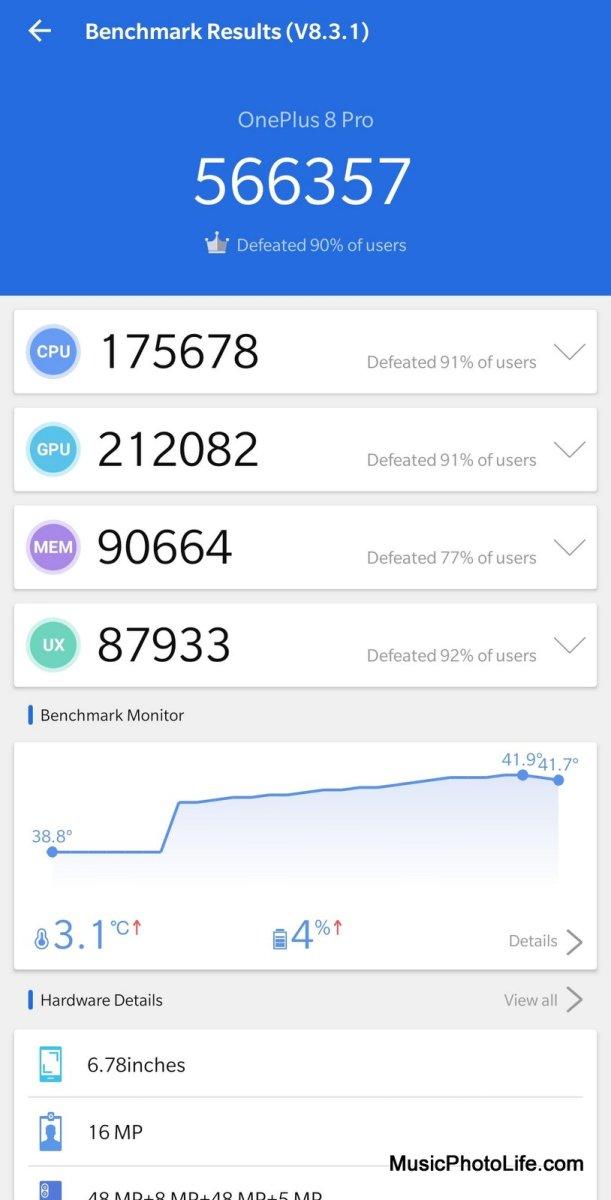 OnePlus 8 Pro AnTuTu Benchmark