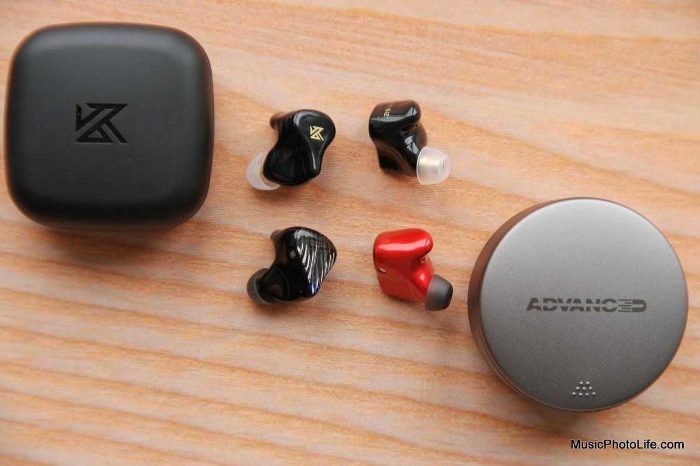 KZ Z1 vs. ADVANCED M5-TWS true wireless earbuds review by Music Photo Life, Singapore tech blog