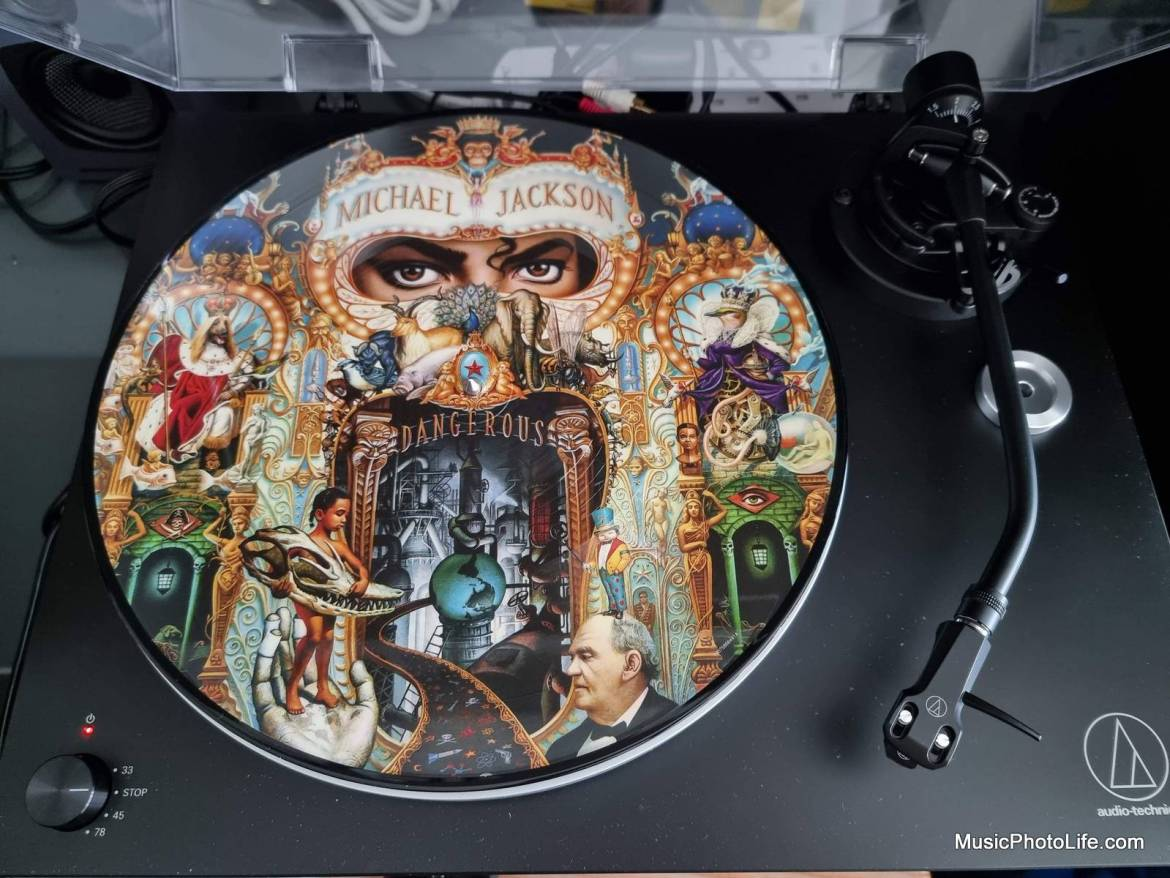 Michael Jackson Dangerous picture vinyl on Audio-Technica AT-LP5X