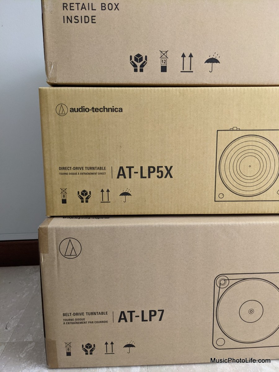 Audio-Technica AT-LP7, AT-LP5X and AT-LP60XBT
