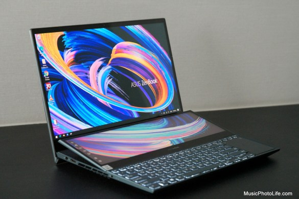 ASUS Zenbook Pro Duo 15 OLED UX582 review by Music Photo Life, Singapore tech blog