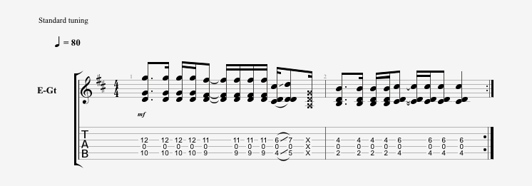 Open Power Chord Scale riff