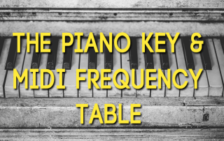 Piano-Key-Frequency-Table