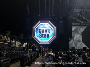 Screen at side of stage for 2014 CNBLUE LIVE – Can't Stop in SINGAPORE.