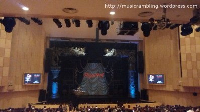 The stage set-up of Musical PHANTOM during the interval at Kemyung Art Center.