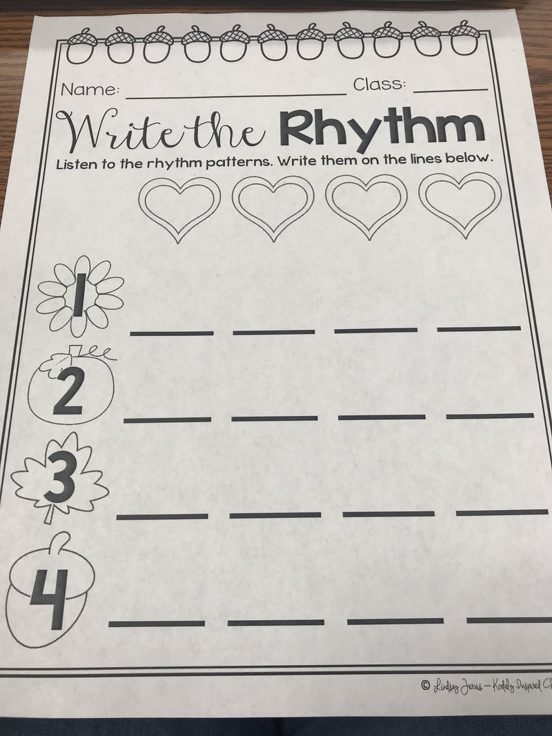 medium resolution of Rhythmic Assessment with First Grade - Music in room #39
