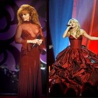 Reba 1993 red dress