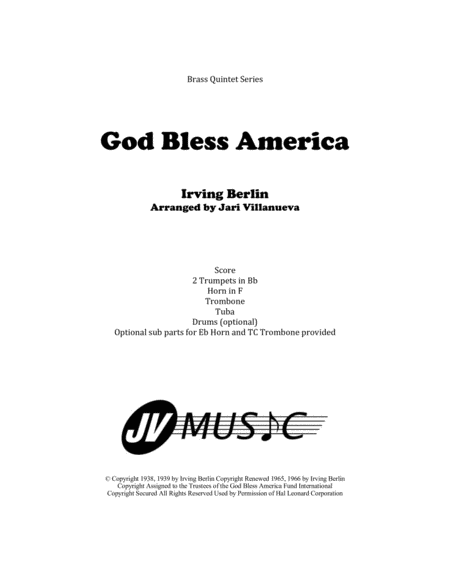 God Bless America Bb Trumpet Solo And Piano Free Music