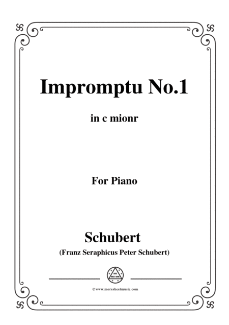 Schubert Impromptu No 1 In C Mionr For Piano Free Music