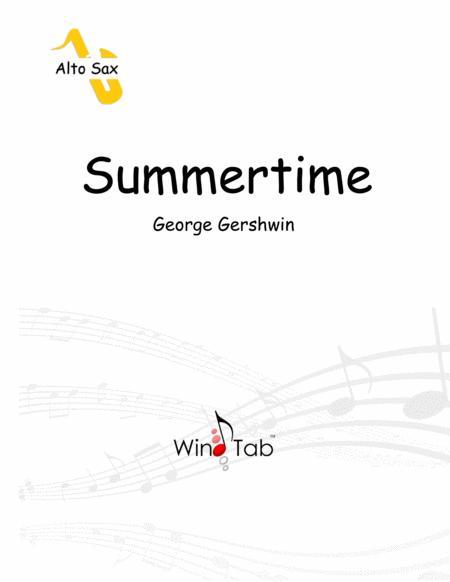 Summertime Alto Saxophone Sheet Music Tab Free Music Sheet