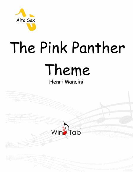 The Pink Panther Alto Saxophone Sheet Music Tab Free Music