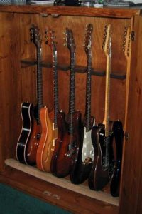 Guitar Storage Cabinets Humidifier to Protect your Guitars.