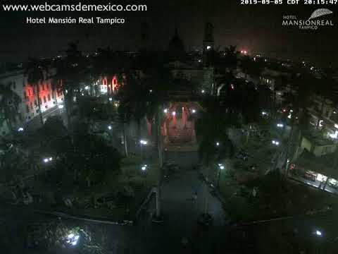Tampico. Plaza de Armas en vivo vista desde Hotel Mansion Real