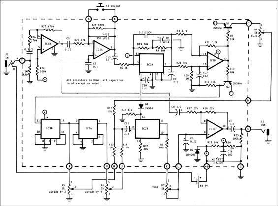 Circuit From An Old Guitar Player Article Is By Craig