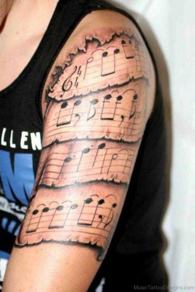Music Half Sleeve Tattoo : music, sleeve, tattoo, Great, Music, Tattoos