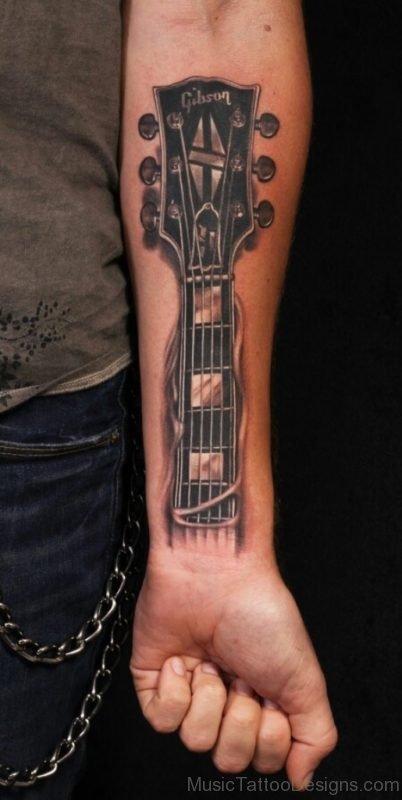 Bass Guitar Tattoo : guitar, tattoo, Acoustic, Guitar, Tattoos